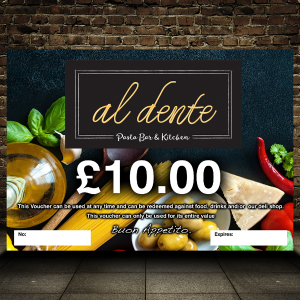 Al Dente Pasta Bar & Kitchen voucher image